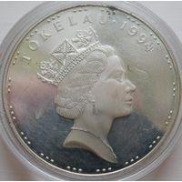 35. Токелау 5 долларов 1994 год, серебро*