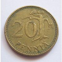 Финляндия 20 пенни 1973
