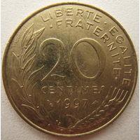 Франция 20 сантимов 1997 г.