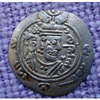 Табаристан. Аббасидские наместники, Farrukhan Burzug, 719-720 гг. н.э., гемидрахма (1/2 драхмы).