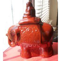 Статуэтка ёмкость для чая. Керамика. Слон.