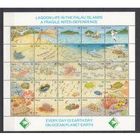 Фауна. Рыбы. Палау. 1990. Полная серия. Michel N 370-394 (30,0 е)