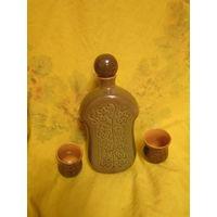 Штоф с рюмками . Белорусская керамика