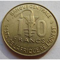 Западная Африка  10 франков 1987 г
