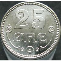 Дания 25 эре 1919 серебро