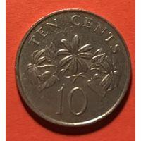 Сингапур 10 центов 1989