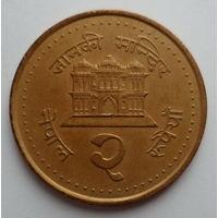 "Непал 2 рупии 2003 ""Будийский храм"""