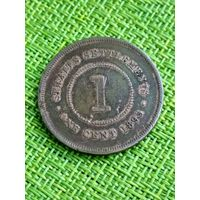 Стрейт  Сетлментс 1 цент 1895 г