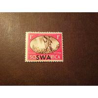 Британская Юго-Западная Африка 1945 г.Победа.Мир.Надпечатка.