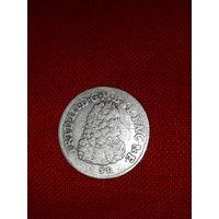 Монета Пруссия 1698 6 грошей Фридрих 3