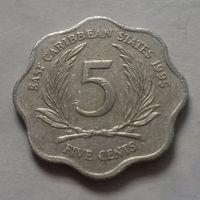 5 центов, Восточные Карибы 1995 г.