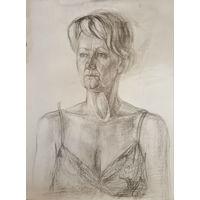 Женский портрет, академический рисунок