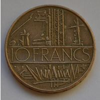Франция, 10 франков 1987 г.