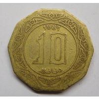 Алжир 10 динаров 1981 г