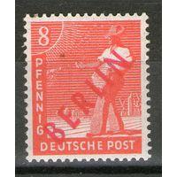 Германия. Западный Берлин. Красная надпечатка. Михель- 23. Чистая.