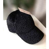 Классная теплая кепка /меховая бейсболка 55