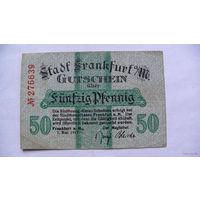 Германия Нотгельд 50 пфенинг 1917г No276639 распродажа