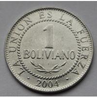 Боливия, 1 боливиано 2004 г.