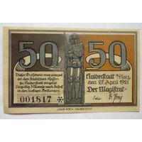 Германия. 50 пфеннигов 1921г