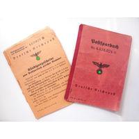 Почтовосберегательная книжка с сопутствующими документами. Оригинал.