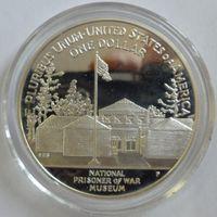 США 1 доллар 1994 года. NATIONAL PRISONER OF WAR MUSEUM. Серебро. Пруф. Состояние!