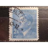 Богемия и Моравия 1942 фюрер 2 кроны