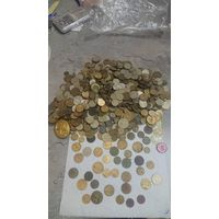 Лот монет СССР, дореформа и поздние советы и монеты банка России
