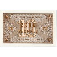 Германия, 10 пфеннигов, 1967 г., UNC