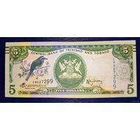 РАСПРОДАЖА С 1 РУБЛЯ!!! Тринидад и Тобаго 5 долларов 2006 год UNC