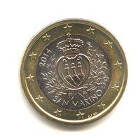 1 евро 2014 Сан-Марино UNC из ролла
