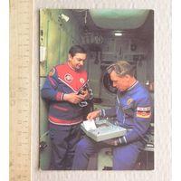 Открытка КОСМОС Советско-Германский экипаж Валерий Быковский и Зигмунд Ян ГДР