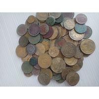 Большой лот хороших монет ранних советов Все разных годов погодовка Более 100шт. с рубля
