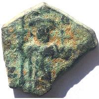 ВИЗАНТИЯ. КОНСТАНТ II (641-668 г). КОНСТАНТИНОПОЛЬ. АЕ ФОЛЛИС.