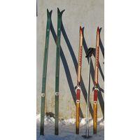 Продам лыжи деревянные рожденные в СССР-190см