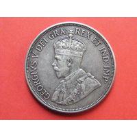 45 пиастров 1928 Кипр КМ# 19 серебро (50 лет под управлением Британии)