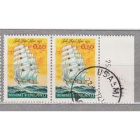 Флот Финляндия Корабли парусники  1972 год лот 4 Сцепка ЧИСТАЯ и гашеная менее 50% то каталога можно раздельно