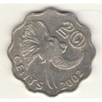 20 центов 2002 г.