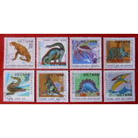 Вьетнам. Динозавры. Животные. Фауна. ( 8 марок ) 1979 года.