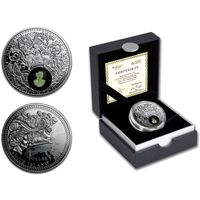 "Ниуэ 1 доллар 2016г. ""Янтарный путь: Европа"". Монета в капсуле; подарочном футляре; сертификат; коробка. СЕРЕБРО 17,50гр."