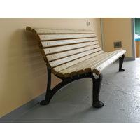 Скамейка. Дуб+чугун. Новая, 190 см