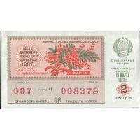 РСФСР Лотерея 1987 год