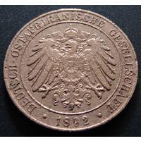 Германская Восточная Африка.  1 пеза 1892 год  KM#1