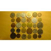 Сборный лот монет,30 шт.