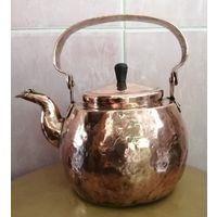 Медный чайник, объём - прим.1,5 л. Клеймо 1914г.