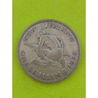 Новая Зеландия 1 шиллинг 1934г серебро
