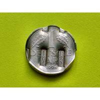 Германия. 1 марка 1994 F. Брак, аннулят, гашение ЦБ Германии.