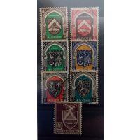 Алжир, гербы 7 марочек