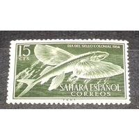 Испанская Сахара 1954 Фауна Рыбы чистая марка