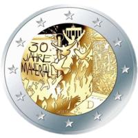 2 евро 2019 Германия F 30 лет падения Берлинской стены UNC из ролла НОВИНКА