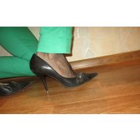 Туфли на шпильке нат.кожа